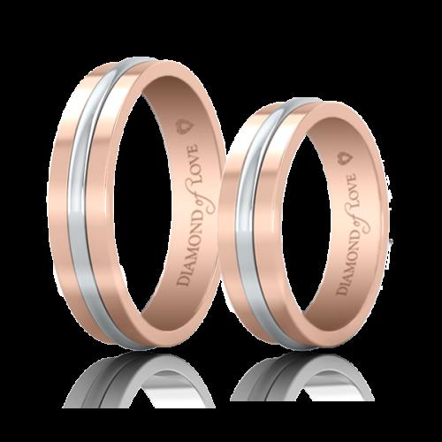 <p>Обручальное кольцо в розовом золоте</p>  0021227