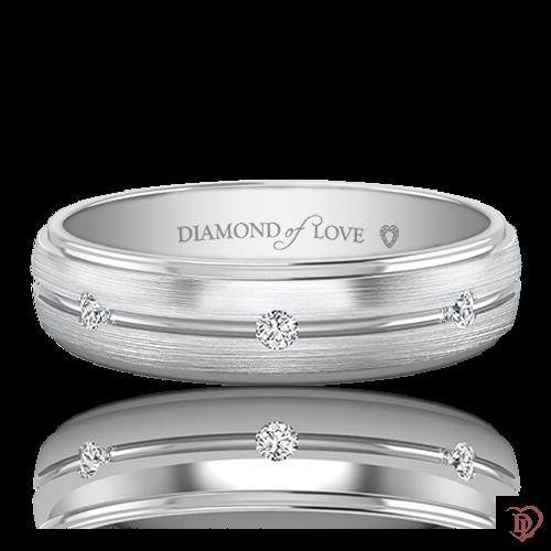 <p>Обручка в білому золоті зі вставками: діаманти</p>  0021233