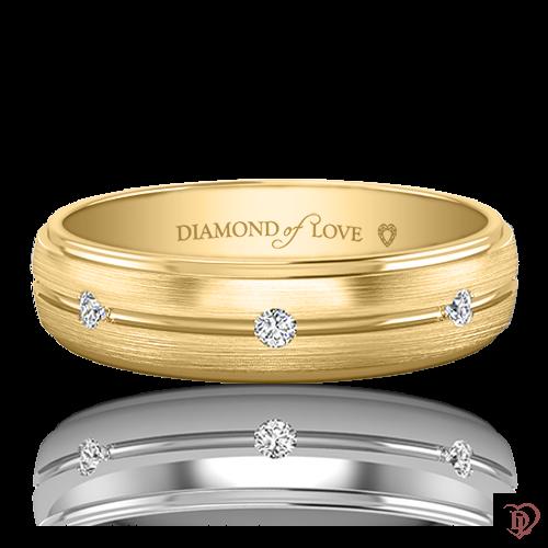 <p>Обручка в жовтому золоті зі вставками: діаманти</p>  0021234