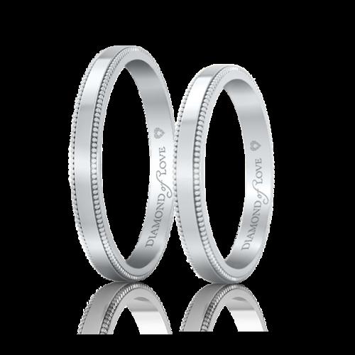 Обручальное кольцо в белом золоте 0021263