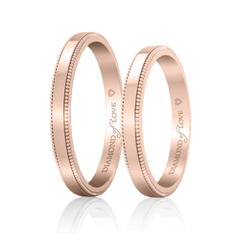 Обручка в рожевому золоті 0021267