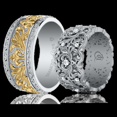 <p>Обручальное кольцо в белом золоте</p>  0021613