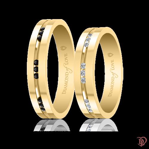 Обручка в жовтому золоті зі вставками: діаманти 0021754