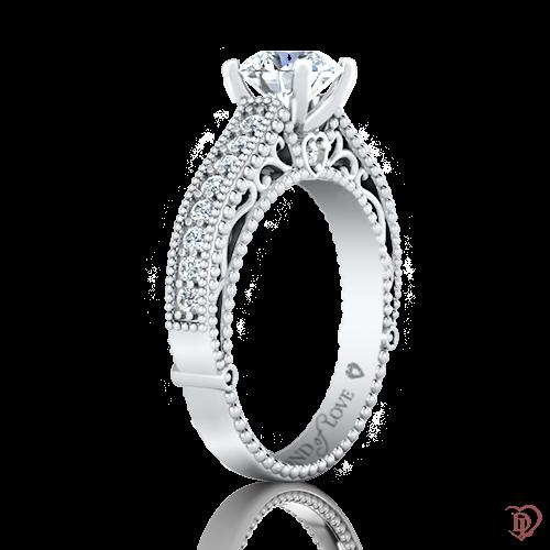 <p>Кольцо в белом золоте со вставками: бриллианты</p>  0022013