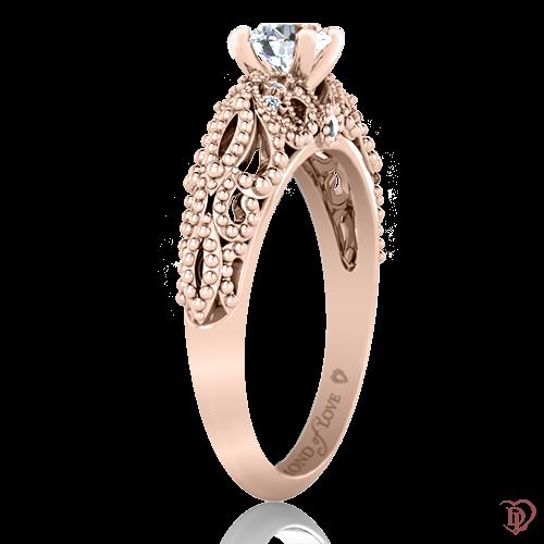 <p>Кольцо в розовом золоте со вставками: бриллианты, сапфиры</p>  0022057