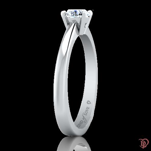 <p>Каблучка в білому золоті зі вставками: діаманти</p>  0022093